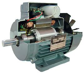 Motore elettrico asincrono monofase